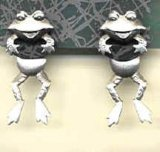 Front-and-Back Frog Earrings