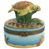 Trinket Box - Porcelain Sea Turtle