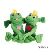Plush Long-Armed Heart Frogs- Set of 2