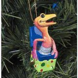 Kitty's Critters Gecko Ornament: Boing
