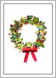 Frog Wreath Holiday Cards, Box/10
