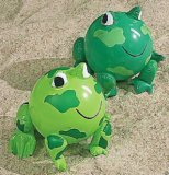 Two Frog-Shaped Beach Balls