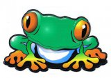 Red-Eyed Treefrog Mylar Decal