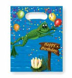 Frog/Alligator Swamp Party Loot Bags, pk/8