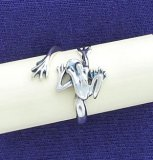 Sterling Elegant Frog Adjustable Ring