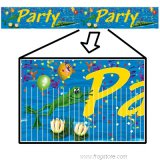Frog/Alligator Swamp Party Fringed Banner