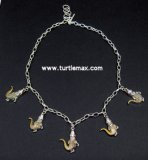 Alligator Two-Tone Charm Necklace