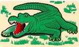 Die-Cut Alligator Decal