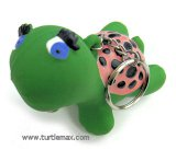 Latex Squeaky Turtle Keychain