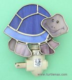Stained Glass Smiling Turtle Nightlight