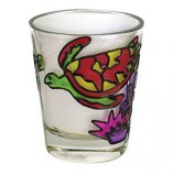 Stained Glass Turtle Shot Glass