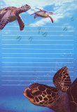 Swimming Sea Turtles Notepad