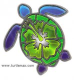 Chromed Sea Turtle Sticker