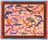 Lounging Lizards Tapestry Afghan