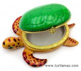 Sea Turtle Porcelain Box