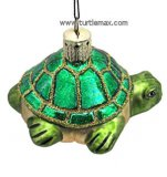 Happy Turtle Glass Ornament