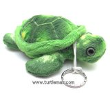 Plush Green Sea Turtle Keychain