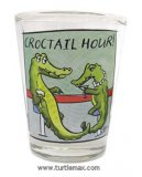 "Crocodile ""Croctail Hour!"" Shot Glass"