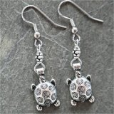 Turtle Silver-Plated Earrings