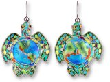 Sterling Earth Turtle Earrings
