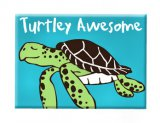 """Turtley Awesome"" Sea Turtle Magnet"