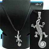 Gecko and Crystal Necklace