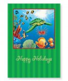 """Happy Holidays"" SeaTurtle Reef Holiday Cards (16)"