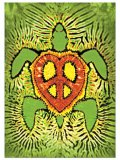 Rasta Peace Turtle Encouragement Card
