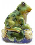 Glazed Ceramic Croaking Frog Motion Detector