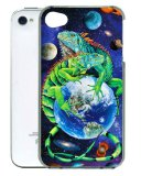 3D Iguana Cellphone Cling