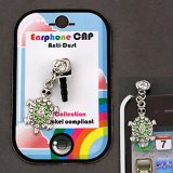 Green Crystal Turtle Cell Phone Charm