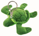 Mini Green Sea Turtle Plush Keychain