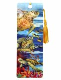 3-D Sea Turtle Tasseled Bookmark