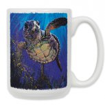 Swimming Sea Turtle Mug