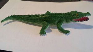 Rubbery Green Toy Alligator
