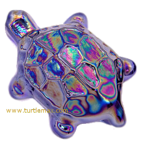 Cobalt Blue Pressed-Glass Turtle