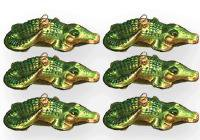 Glass Crocodile Ornament
