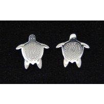 Pewter Earrings Turtle Small