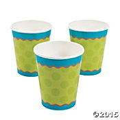 Snappy Alligator Coordinating Party Cups (8)