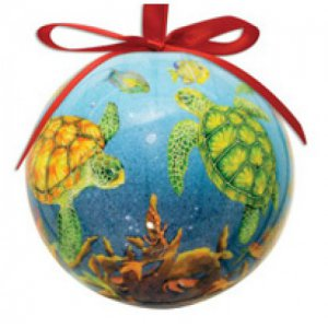 Ball Sea Turtle Reef Ornament