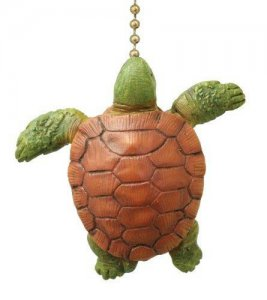 Vertical Sea Turtle Ceiling Fan Pull Chain