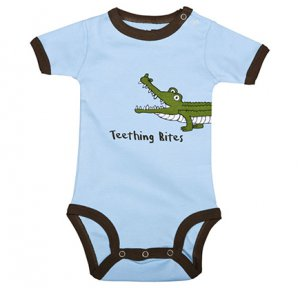 Teething Bites Alligator Onesie