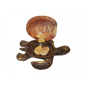 Marble Turtle Jewelry Box - 5""