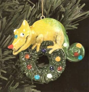 Kitty's Critters Chameleon Ornament: Spot
