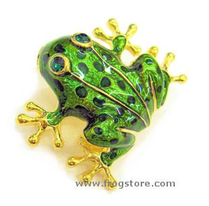 Golden-Toed Frog Pin