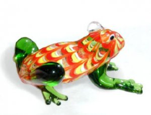 Swirled Green Legged Glass Frog