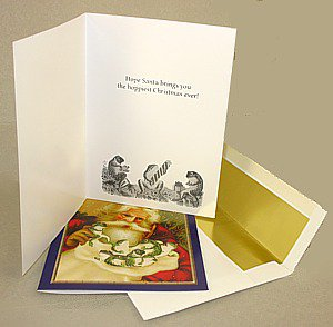 Victorian Frog Christmas Cards, box/10