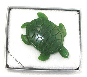 Jade Sea Turtle Pin