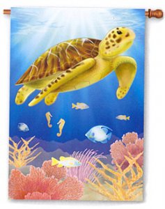 Sea Shimmer Small Turtle Flag
