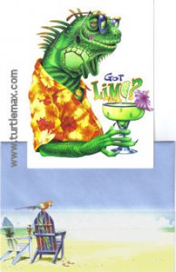 Got Lime? Iguana Birthday Card